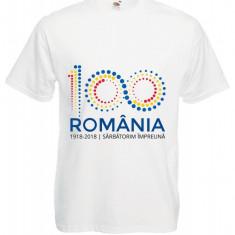 TRICOU PERSONALIZAT ROMANIA CENTENAR SIGLA OFICIALA