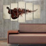 Tablou decorativ multicanvas Charm, 5 Piese, Vioara, 223CHR1939, Multicolor