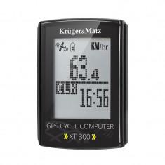 Computer pentru bicicleta Kruger Matz XT 300, GPS, monitorizare puls, cronometru, navigatie