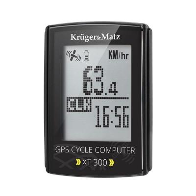Computer pentru bicicleta Kruger Matz XT 300, GPS, monitorizare puls, cronometru, navigatie foto
