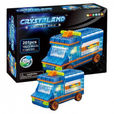 Set cuburi model ambulanta cu lumini, 201 piese,