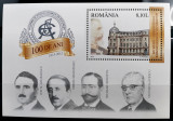 ROMANIA 2013 - 100 ani ASE - Colita dantelata MNH - LP 1975 - cota 10,2 lei, Nestampilat