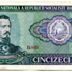 Bancnota 50 lei 1966 AUNC+