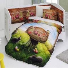Set de pat pentru bebelusi, bumbac 100%, Ranforce, Zen Art Deco