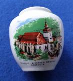 Jucarie veche de colectie - Vaza miniatura BISERICA NEAGRA Brasov Romania 1970