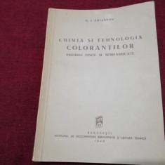 N I AMIANTOV - CHIMIA SI TEHNOLOGIA COLORANTILOR 1949