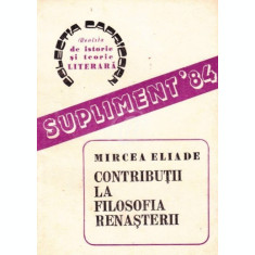 Contributii la filosofia Renasterii