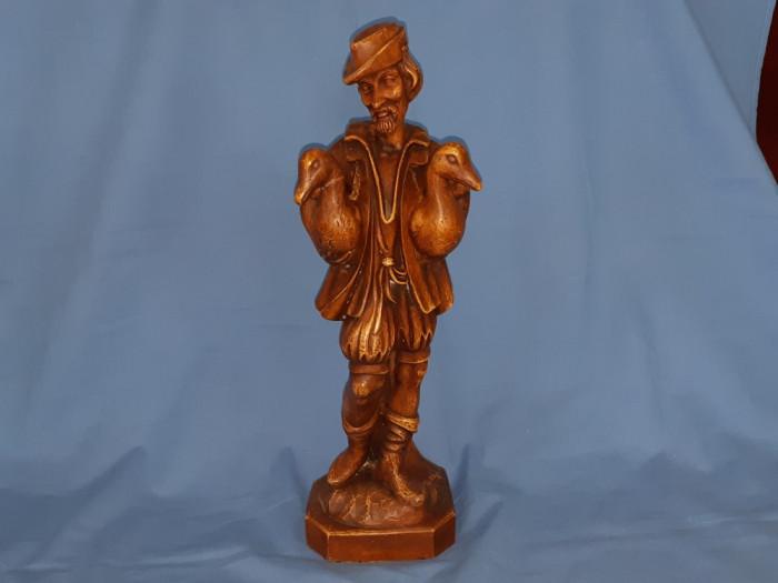 Sculptura veche in lemn Oberammergau 44 cm inaltime