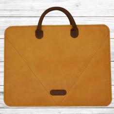 Colectia Business pentru notebook slim/macbook 15′, maro
