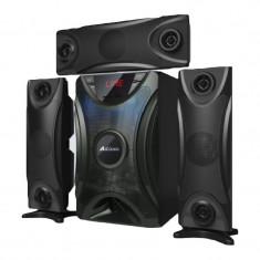 Sistem audio bluetooth Ailiang, 40 W x 2, USB, 65 dB, display LED, Negru