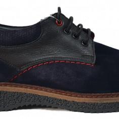 Pantofi barbati casual din piele nabuc cu siret Otter 021