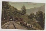 Busteni-- , Salutari din Romania - Tunelul de la Busteni, Circulata, Printata