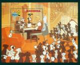 !!! REDONDA - DESENE ANIMATE , 101 DALMATIENI , 1982 - BLOC NESTAMPILAT