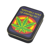 Cutie metalica depozitare Tutun Tigari Frunza Marijuana