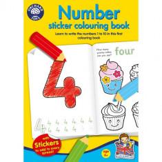 Carte de Colorat cu Activitati in Limba Engleza si Abtibilduri Invata numerele - Number