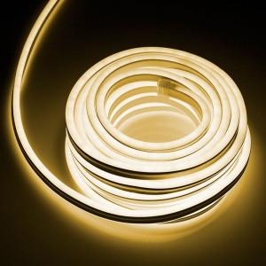 Furtun luminos flexibil tip LED Neon, 10 m, 7.4 W, 3000K alb cald