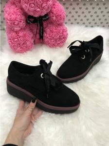 Pantofi adidasi dama negri cu platforma marime   40+CADOU