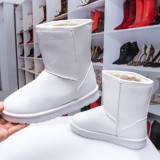 Cizme dama de iarna albe Onefi