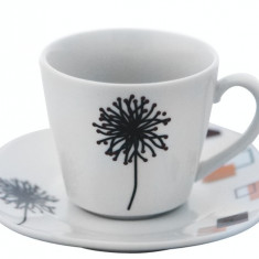 Serviciu cafea din portelan 12 piese, MN012740 Portelan