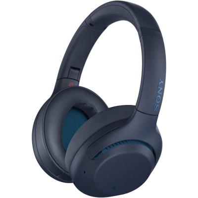 Casti wireless cu filtru zgomot Sony WH-XB900N Extra Bass, albastru foto