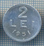 AX 724 MONEDA- ROMANIA - 2 LEI -ANUL 1951 -STAREA CARE SE VEDE