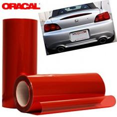 Folie protectie faruri / stopuri ORACAL (50 x 50 cm) - rosu
