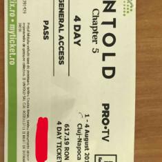 Vand bilete untold cartonate TOATE 4 ZILE general access