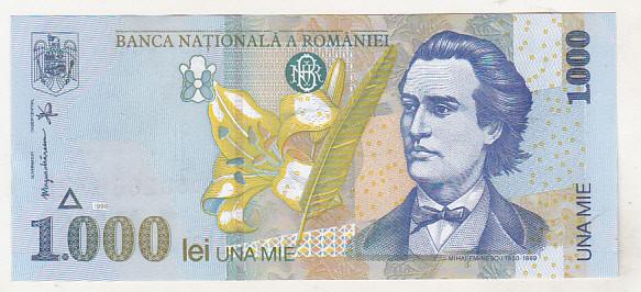 bnk bn Romania 1000 lei 1998 unc BNR mic