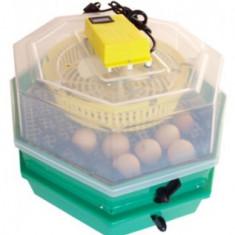 Incubator etajat cu intoarcere oua, termometru si higrometru CLEO5x2DTh