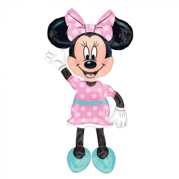 Balon Folie AirWalker Minnie Mouse - 96 x 137 cm, Amscan 34331
