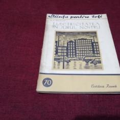A P BELIACOV - ELECTRICITATEA IN JURUL NOSTRU 1952