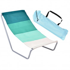 Sezlong pliabil, forma scaun pliant, cadru otel, 97x60x45 cm, husa inclusa