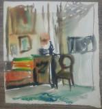 Interior// acuarela pe hartie