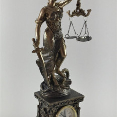 statuia justitiei cu ceas 28cm