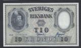 A5159 Sweden Suedia 10 kronor 1958 SEMNATURI DIFERITE aUNC UNC