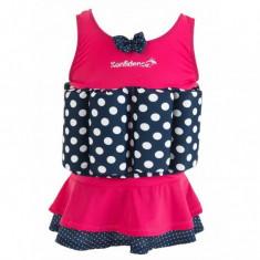 Konfidence - Costum inot copii cu sistem de flotabilitate ajustabil Pink Skirt 1-2 ani