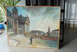 Tablou pictura ulei panza peisaj Teatrul National din IASI
