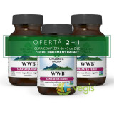 Cura 45 de Zile Sindrom Menstrual Pachet 2+1 WWB Sanatatea Femeii 60cps veg