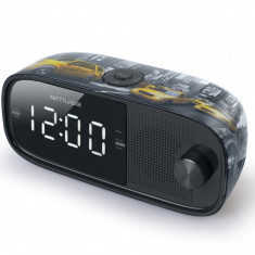 Radio cu ceas MUSE M-168 NY, Dual alarm,0,9 inch white LED,Wake up by Radio or Buzzer,Snooze, Sleep,2 x 1,5V AAA/R03/UM4 type battery (not included),d
