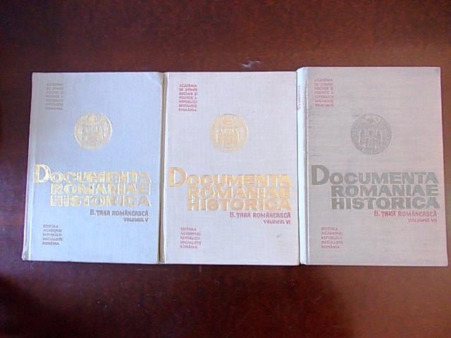 DOCUMENTA ROMANIAE HISTORICA, TARA ROMANEASCA, VOLUMELE V, VI, VII- r2b