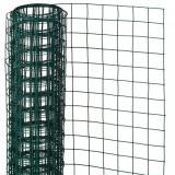 Nature Plasă din sârmă verde 0,5 x 5 m oțel cu plastic 13 mm pătrat
