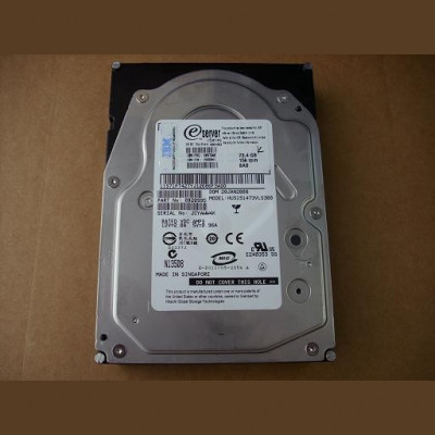 Hard disk server IBM X Series 73.4GB 15K SAS 3.5'' FRU 39R7348 foto