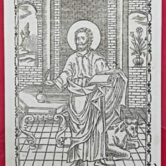 Sf. Evanghelist Luca, Gravura atribuita Ioan Zugrav, Secol 18-19