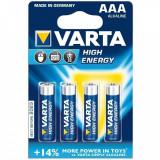 Baterie Alcalina Varta AA LR6 Mignon Set 4 Baterii