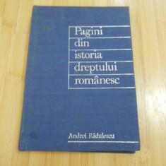 ANDREI RADULESCU--PAGINI DIN ISTORIA DREPTULUI ROMANESC - 1970