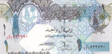 Bancnota Qatar 1 Riyal (2008) - P28 UNC