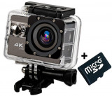 Camera Video Sport 4K 24fps iUni Dare 95i, WiFi, telecomanda, mini HDMI, 2 inch LCD + Sport Kit + Card MicroSD 8GB Cadou