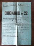 Afis 1941 interzicerea comercializarii alcoolului /  43x30 cm