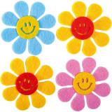 Set flori smiley din fetru.