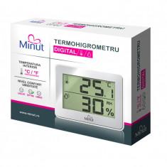 Termohigrometru digital Minut, 2 functii, 1 x AAA